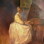 Devojka svira klavirčembalo